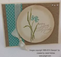 Love and Sympathy card by holmesj - Cards and Paper Crafts at Splitcoaststampers
