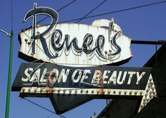 Renee's Salon of Beauty Sign by pixeljones, via Flickr