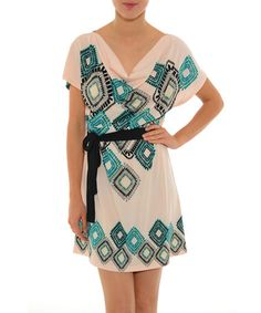 Look what I found on #zulily! Turquoise Geo Lupine Dress by smash! #zulilyfinds