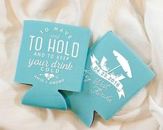 To Have and To Hold Wedding Favors Beach Wedding by SipHipHooray
