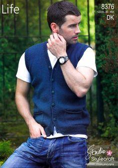Man's Waistcoat Free Knitting Pattern – Knitting patterns, knitting designs, knitting for beginners. Mens Vest Pattern, Mens Knit Sweater Pattern, Sweater Knitting Patterns, Free Knitting, Knitting Hats, Knitting Designs, Knit Hat For Men, Men's Waistcoat, Knitting For Beginners