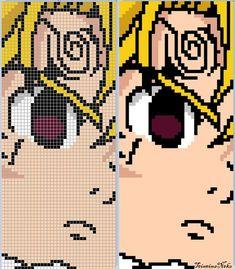 Perler Patterns, Loom Patterns, Cross Stitch Patterns, Anime Pixel Art, Art Anime, Minecraft Pixel Art, Minecraft Designs, Diy Perler Beads, Perler Bead Art