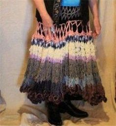Jo Stewart Wray - WildFlower Heart Designs Crocheted skirt with a #western wear flair $850 at Jo Wray's in Kilmichael Heart Designs, Western Wear, Tie Dye Skirt, Wedding Planner, How To Make, How To Wear, Antiques, Stylish, Crochet