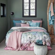 Vandyck dekbedovertrek Wish multi - Morpheus Beddengoed Grey Wall Color, Wall Colors, Diy For Girls, Diy For Teens, Diy Room Decor, Bedroom Decor, Home Decor, Boys Closet, Closet Doors