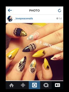 """Indian themed nails! """"Dream a pretty dream"""" dope nail art by Thao Dang"""