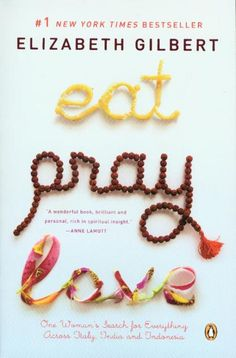 eat. pray. love. I can really relate to this book/movie.  This is the only case where I enjoyed the movie more than the book.  The book dragged in a few parts. But still pretty good.