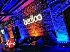 Wireless LED Uplighting and Custom Gobo for the Bedloo App Launch Party in Tampa, FL