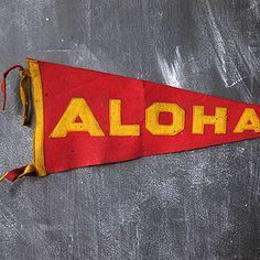 Aloha Felt Pennant