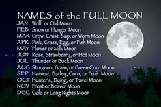 Names of the Full Moon