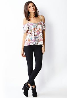 Off the Shoulder Paisley Top | FOREVER 21 - 2000070968