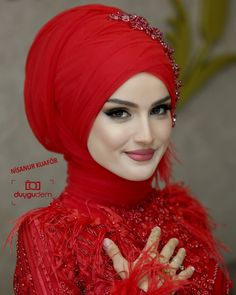 Look at the photos and watch the videos and say they& not dreaming . Bridal Hijab, Disney Wedding Dresses, Hijab Bride, Pakistani Wedding Dresses, Dress Wedding, Hijabi Wedding, Wedding Bride, Most Beautiful Dresses, Beautiful Hijab