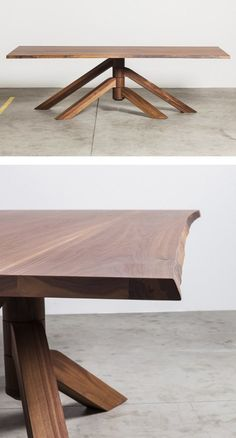 Rectangular #table KEPLERO by Miniforms | #design Paolo Cappello #wood