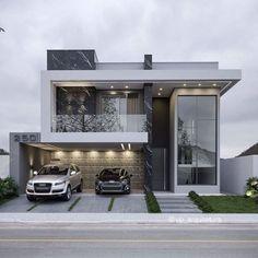 Modern Exterior House Designs, Modern Villa Design, Dream House Exterior, Modern Architecture House, Modern House Facades, Small Modern Houses, Exterior Design, Best Modern House Design, Minimalist House Design