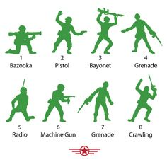 Green Army Men Vinyl Wall Decals for the toy story room
