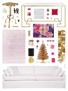 """""""Chic Christmas"""" by belenloperfido ❤ liked on Polyvore featuring interior, interiors, interior design, home, home decor, interior decorating, MARIONI, Jonathan Adler, Designers Guild and H&M"""