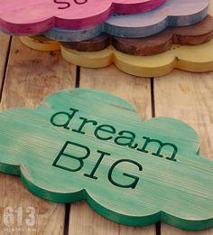 "Image of NUBE MADERA ""dream BIG"""