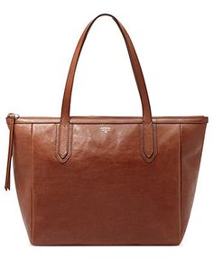 Fossil Handbag, Sydney Leather Shopper - Fossil - Handbags & Accessories - Macy's: Brown, $168