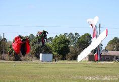 plane meets skydiver