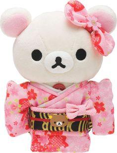 New! Rilakkuma Kimono Plush Doll Stuffed Toy Kawaii Japan San-X Pink. I LOVE IT!!!!!