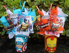 Marvel Kids Candy Party Favors by LynnsCandyCreations on Etsy, $4.75