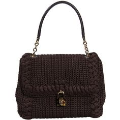 Dolce & Gabbana Handbag (€630) ❤ liked on Polyvore featuring bags, handbags, brown, handle bag, dolce gabbana handbag, white bags, dolce gabbana bag and brown handbags