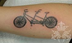 Love this tandem from Annie Lloyd!  It's so small, on a forearm.