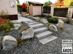* Csináld magad kertépítés *: Kertépítés ötletek Garden Stones, Stepping Stones, Sweet Home, Patio, Outdoor Decor, Modern, Home Decor, Stones For Garden, Stair Risers
