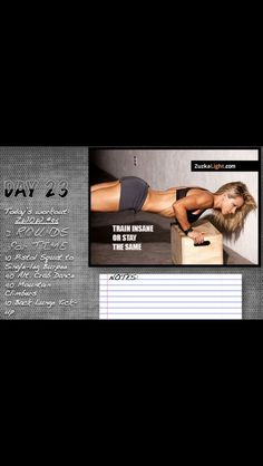 Will you train insane? Or remain the same? Join the girls and I in my to train insane on day 23 in our Short Workouts, Easy Workouts, At Home Workouts, Crossfit, Workout Schedule, Workout Challenge, Moda Fitness, Total Body, Academia