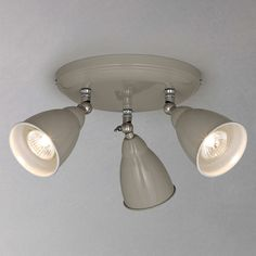 BuyJohn Lewis Plymouth 3 LED Spotlight Ceiling Plate, Taupe Online at johnlewis.com