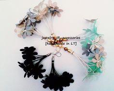 Lengvi, tekstilinių gėlyčių auskatai