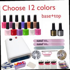 44.18$  Watch here - http://alitd4.worldwells.pw/go.php?t=32315605948 - New Arrival Soak-off Gel polish Top & Base Coat gel nails polish kit art tools kits sets manicure set choose 12colors NEW 44.18$