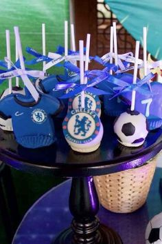 Check out this fun soccer themed birthday party! The cake pops are great! See more party ideas and share yours at CatchMyParty.com #catchmyparty #partyideas #soccer #soccerparty #football #boybirthdayparty #cakepops Soccer Birthday Parties, Soccer Party, Birthday Party Themes, Birthday Cake Pops, Birthday Candles, Wedding Cake Pops, Wedding Cakes, Soccer Cake Pops, City Party