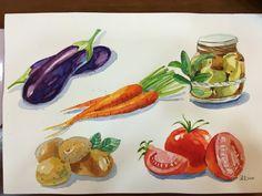 #蔬菜#水彩練習