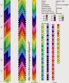 off loom beading Crochet Beaded Bracelets, Beaded Bracelet Patterns, Seed Bead Bracelets, Jewelry Patterns, Bead Earrings, Seed Beads, Bead Crochet Patterns, Bead Crochet Rope, Bracelets