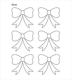 10 Paper Bow Templates Free Sample Example Format