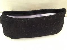 Black sparkly clutch/wristlet/ coraline/swoon