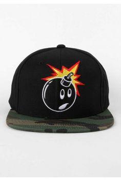 The Hundreds Clothing Adam Camo Snapback Hat - Black $30.00 #thehundreds