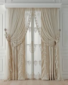 Chicca Orlando Italian company, produce luxury home textiles and furniture made in Italy, with high quality embroidery fabric and unique design.Chicca Orlando creates curtains and home textile with total customization and exclusive Italian style. Luxury Curtains, Elegant Curtains, Home Curtains, Hanging Curtains, Curtains With Blinds, Kitchen Curtains, Window Curtains, Curtain Styles, Curtain Designs