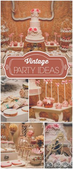 How gorgeous is this vintage baptism party?! See more party ideas at CatchMyParty!