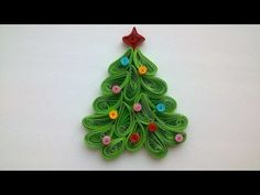 How To Make A Quilled Christmas Tree Magnet - DIY Crafts Tutorial - Guidecentral