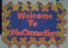 back to school bulletin boards | Preschool and Kindergarten Back To School Bulletin Board Idea