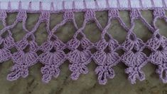 Bico de crochê no pano de prato #24 Crochet Boarders, Crochet Lace Edging, Crochet Cardigan Pattern, Granny Square Crochet Pattern, Crochet Flowers, Crochet Stitches, Crochet Baby, Knitting Patterns, Crochet Patterns