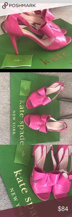 Kate spade IMELDA - rio pink Size 7.5 Excellent like new condition  Worn only 2-3 times Comes without original box (sorry reuse box) 😁  Butter soft leather Sold out at Kate Spade regular price $350 Kate Spade Shoes Heels