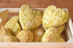 Broccoli and carrot biscuits.