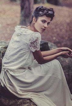 The back of this wedding dress! Laure De Sagazan collection http://onefabday.com/laure-de-sagazan-wedding-dresses