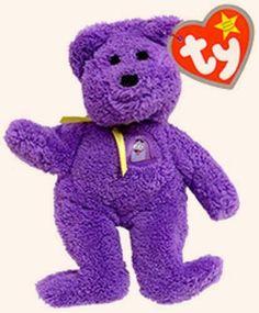 Grimace the Bear - Ty Teenie Beanie Babies - McDonalds promotion USA 2004 Beanie Baby Bears, Ty Beanie Boos, Bean Bag Toys, Ty Bears, Teddy Bear Cartoon, Mazzy Star, Ty Plush, Ty Babies