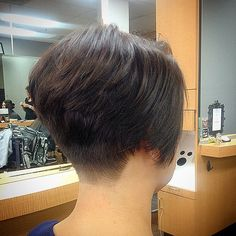 best pixie and bob cut hairstyle ideas 2019 page 44 Short Hair Back, Edgy Short Hair, Short Hair Cuts For Women, Short Hair Styles, Stacked Bob Hairstyles, Short Bob Haircuts, Short Wedge Haircut, Shaved Nape, Thing 1