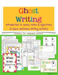 Get your little writers excited about Halloween and October fun with my Ghost Writing Cloze Sentence Writing Activity.