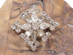 VINTAGE RHINESTONE Pin Brooch Rhinestones Brooch Rhinestones Unique Steampunk Fashion Ready to Wear Vintage Jewelry Destash (Y44). $15.50, via Etsy.