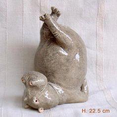 Jen Robinson - Ceramic hippos